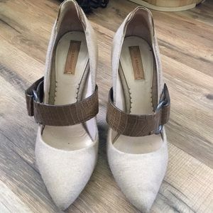 Reef Krakoff felt and leather shoes size 6.5